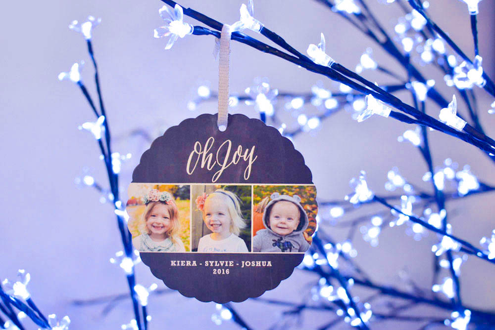 Minted holiday ornament photo cards