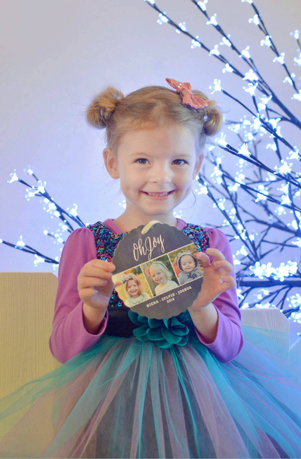 Personalized photo cards and Minted ornament cards