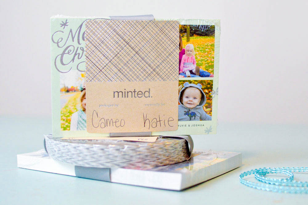Minted personalized holiday photo cards