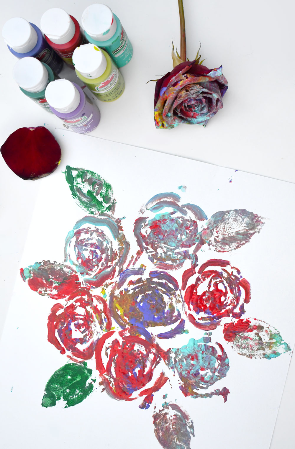Fun painting with roses art project