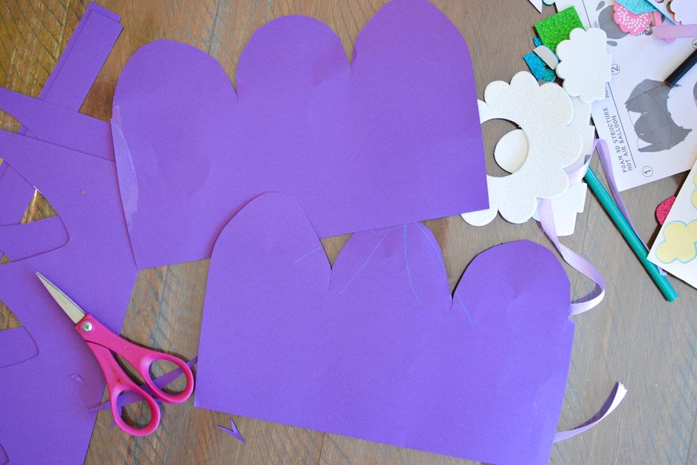 Creative DIY paper hot air balloon kids craft