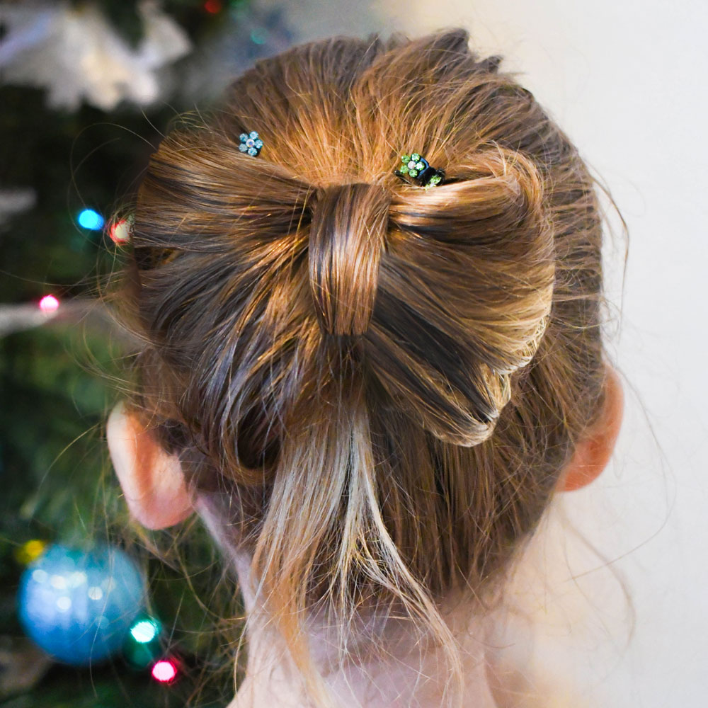 How to make a bow with your hair, so cute