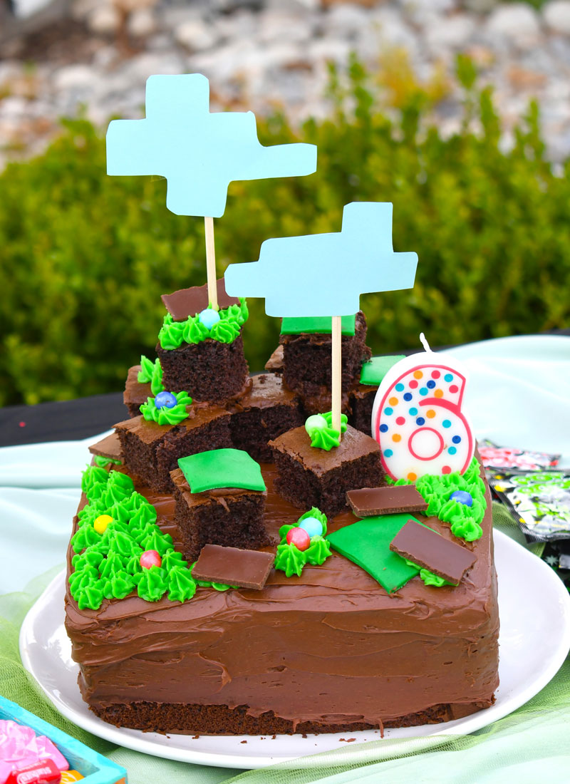 Kids minecraft party ideas birthday cake