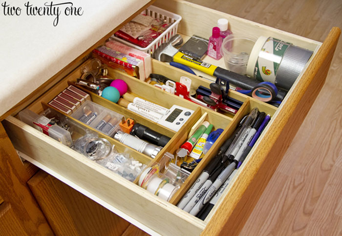 How to organize a kitchen junk drawer to find the things you need