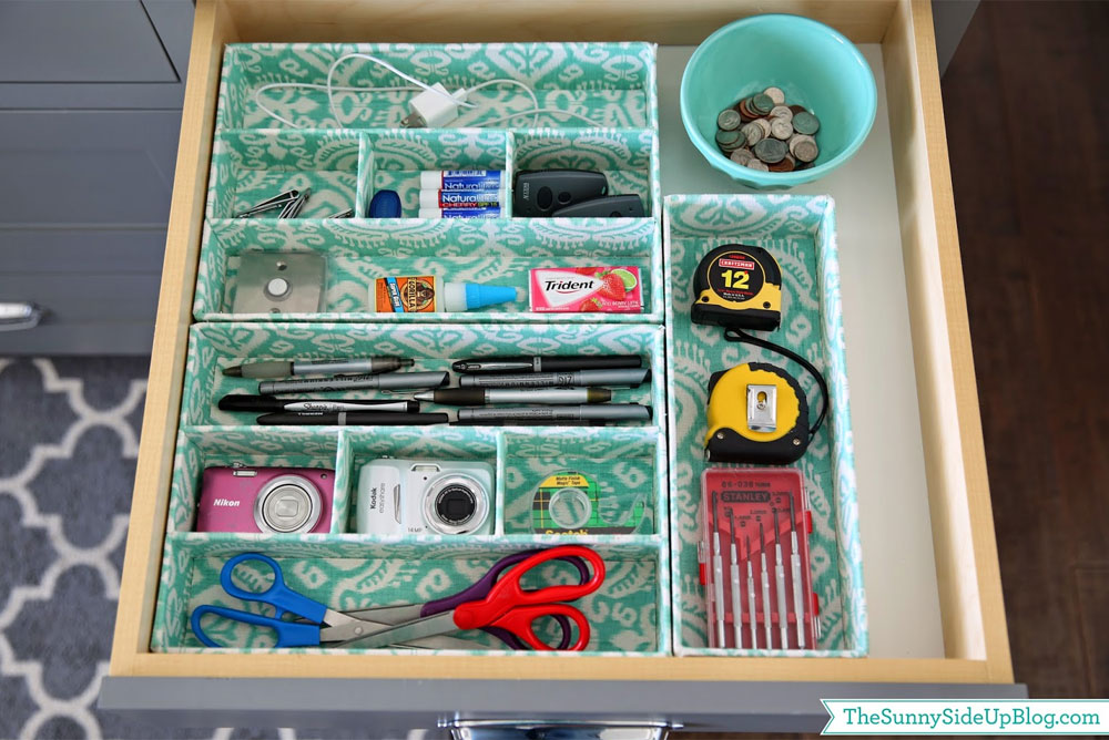 How to organize a junk drawer in the kitchen or office