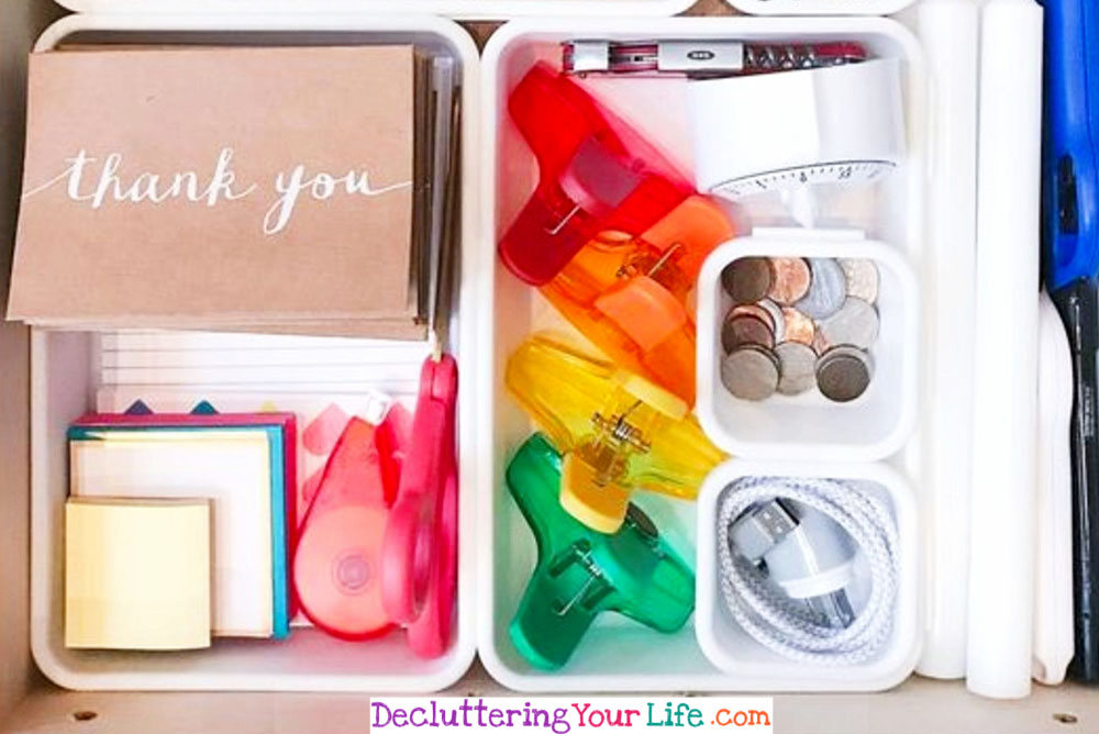 How to organize a junk drawer easy tips