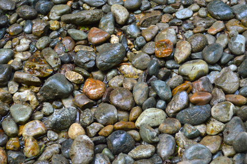 colorful pebble texture, free riverbank pebble stock photo