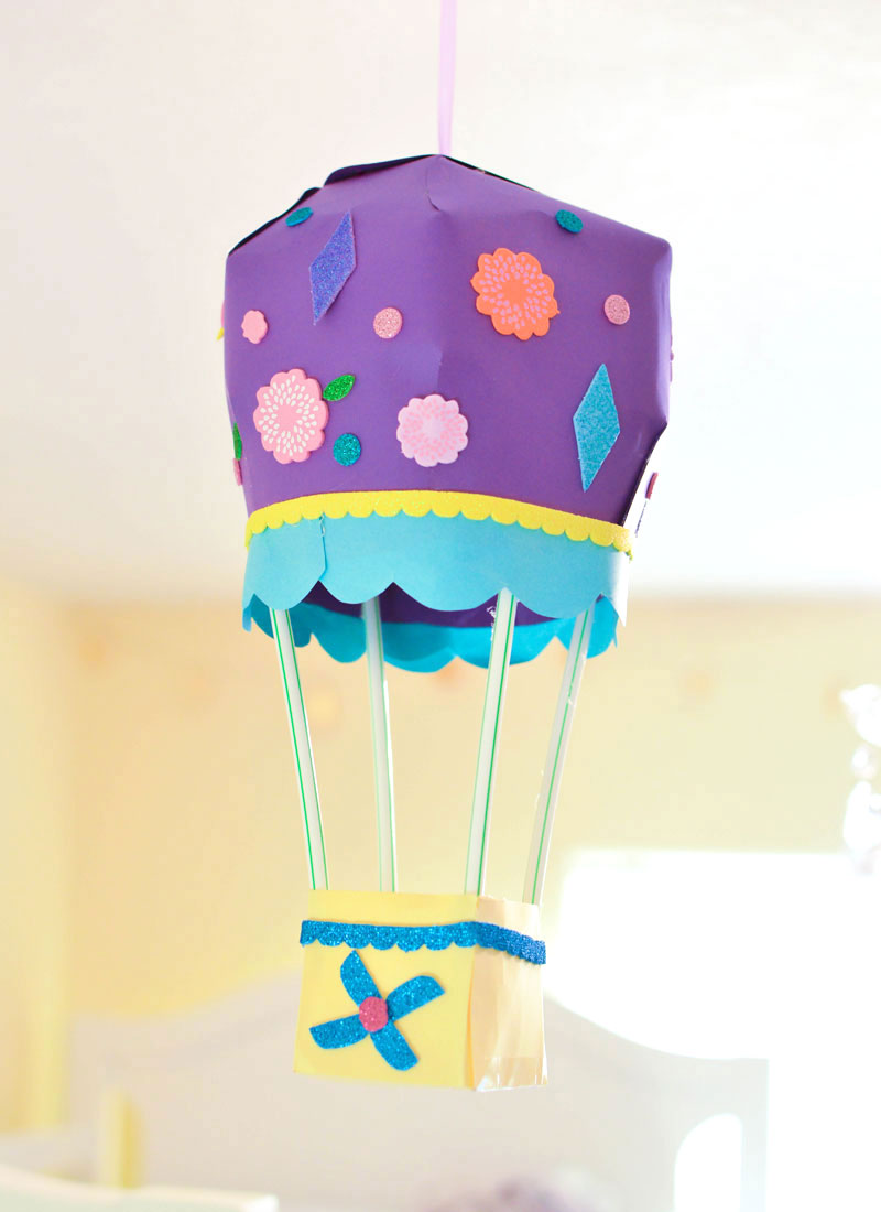 Whimsical 3D Hot Air Balloon Paper Craft