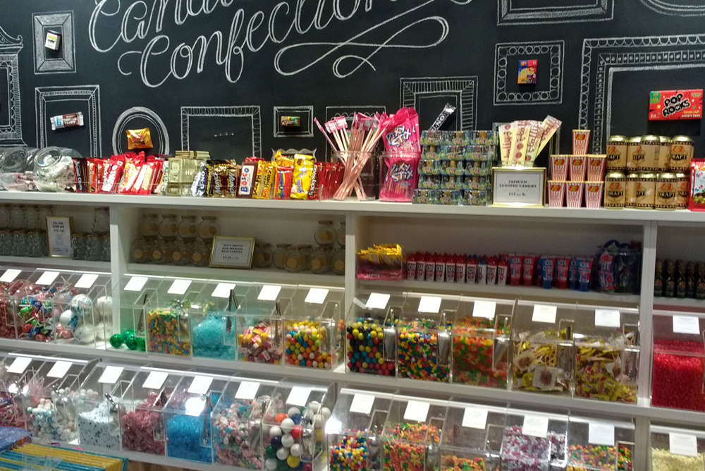 Lolli and Pops candy store at Alderwood Mall in Seattle