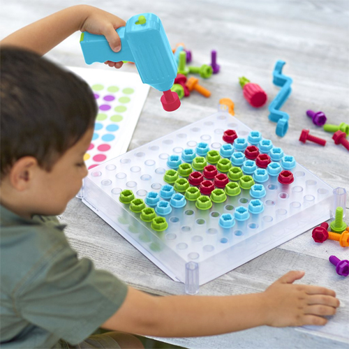 Design and Drill construction sets for kids