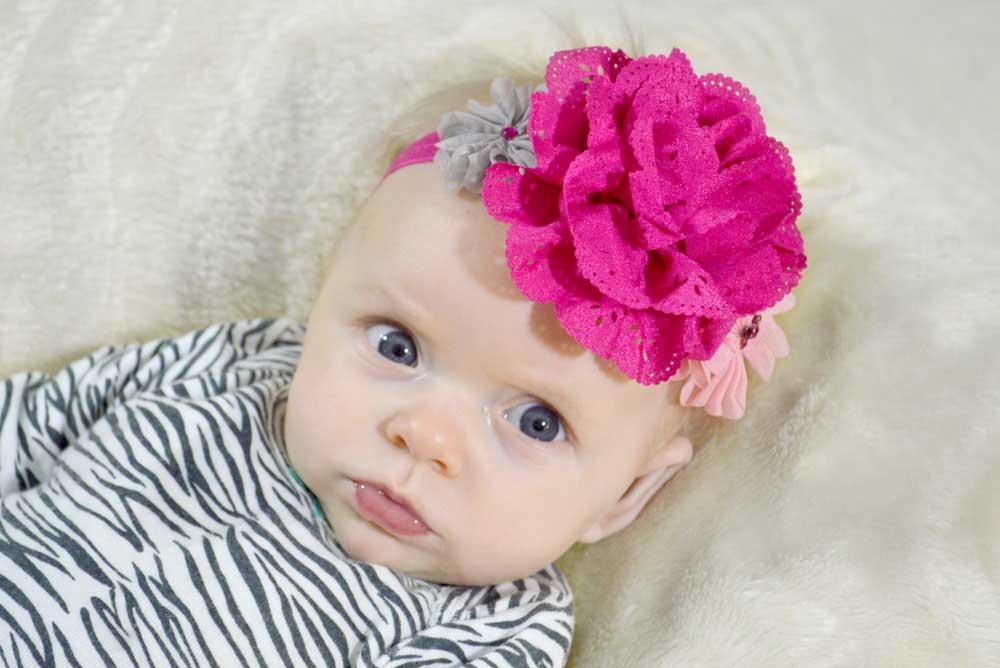 DIY baby flower headband accessory