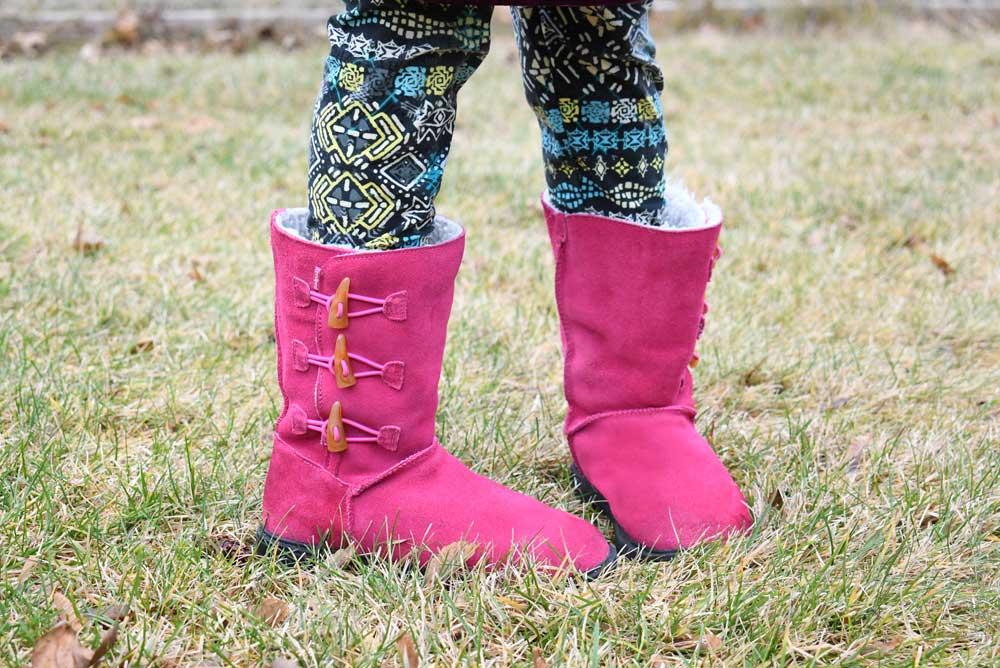 Stylish pediped fuchsia Flex Maggie boots for kids