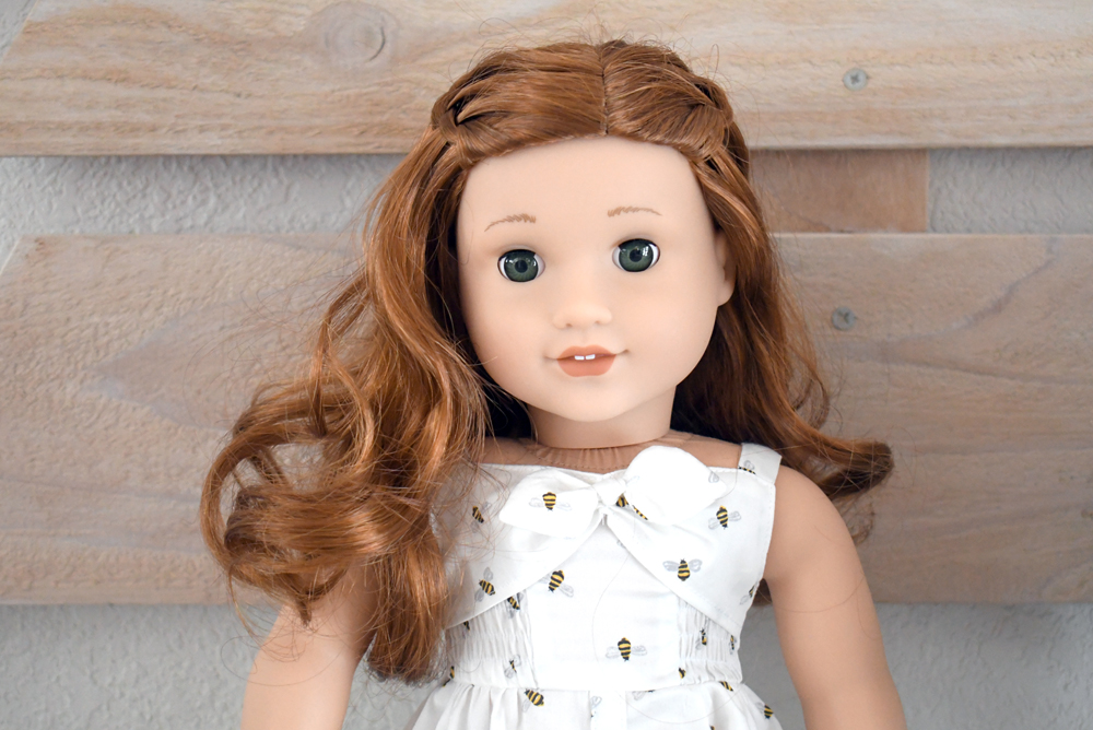 American Girl 2019 girl of the year Blaire Wilson has red hair and green eyes