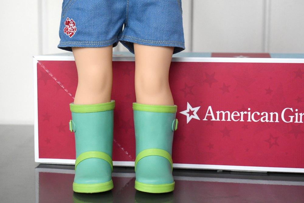 American Girl 2019 girl of the year Blaire Wilson green gardening boots