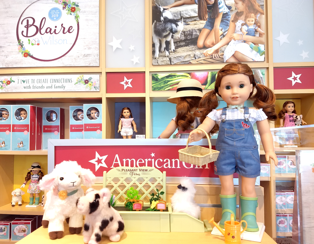 American Girl Store and 2019 Girl of the Year Blaire Wilson