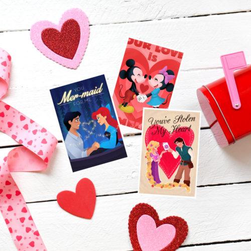 Super Cute & Colorful Disney Valentines