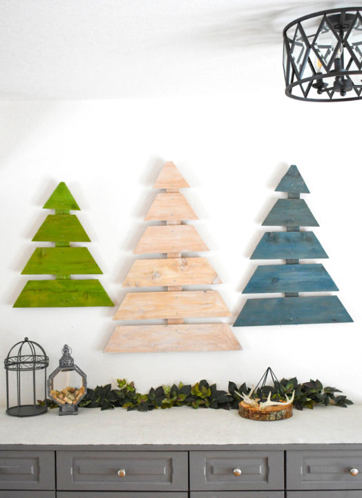DIY Wooden Trees Made From Fence Boards