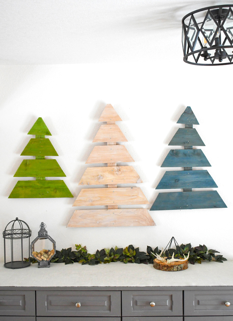 Easy DIY Wooden Trees Made From Fence Boards