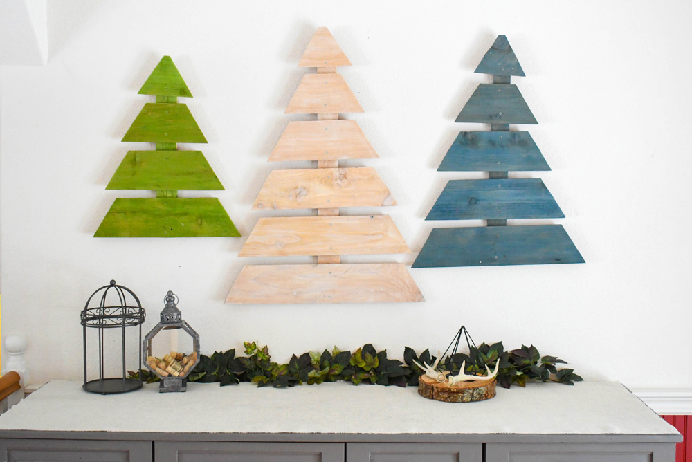 These DIY wooden trees are a simple and eye catching addition for any blank wall