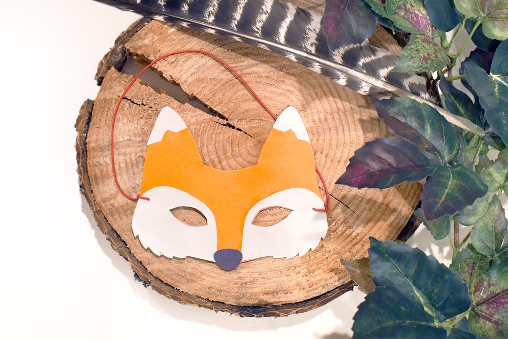 Easy DIY fox paper mask