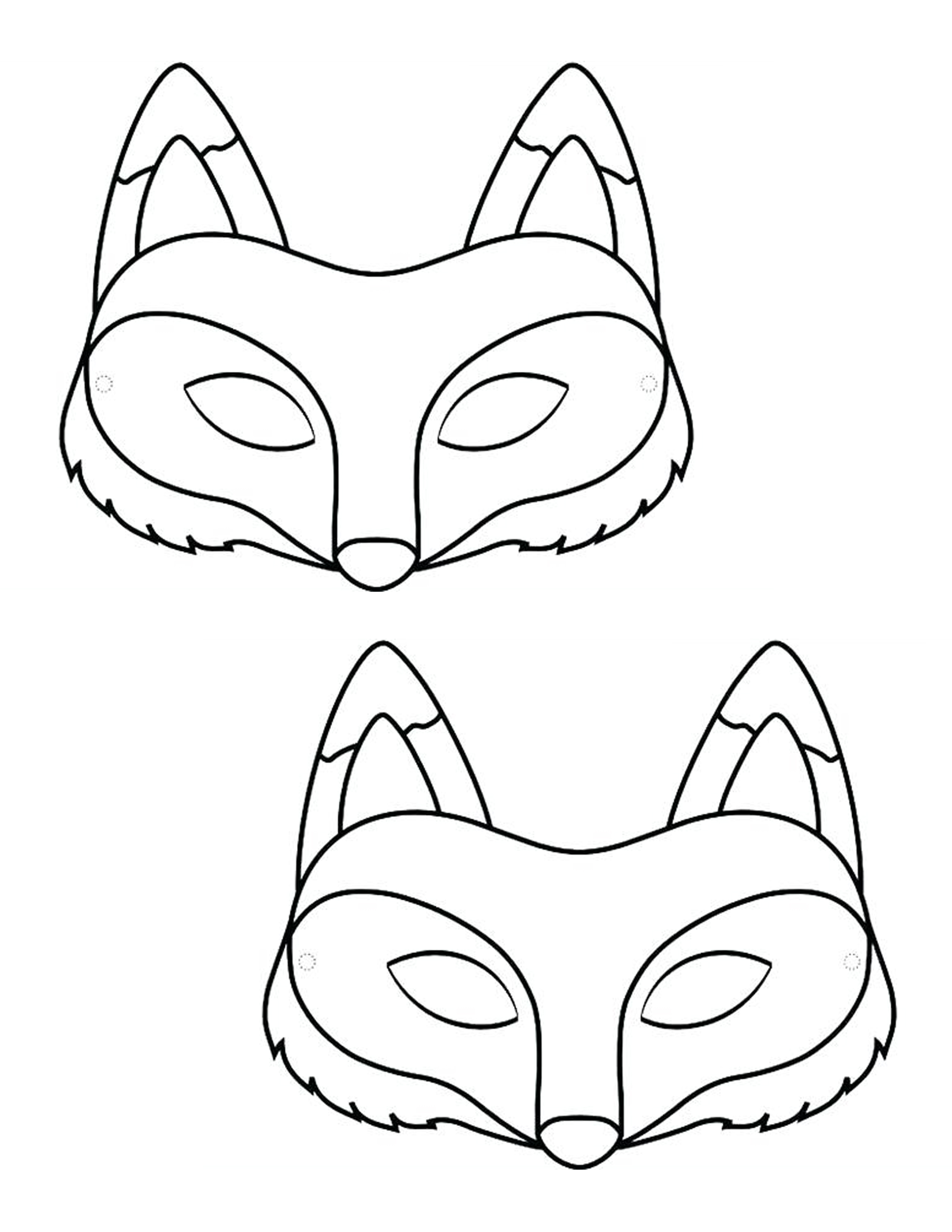 image about Printable Fox Masks named What Does the Fox Say? Snacks, Crafts and Model - Develop