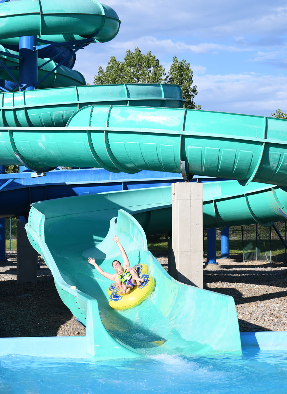 Fun Coeur d'Alene family activities Silverwood Theme Park and Boulder Beach Rumble Falls