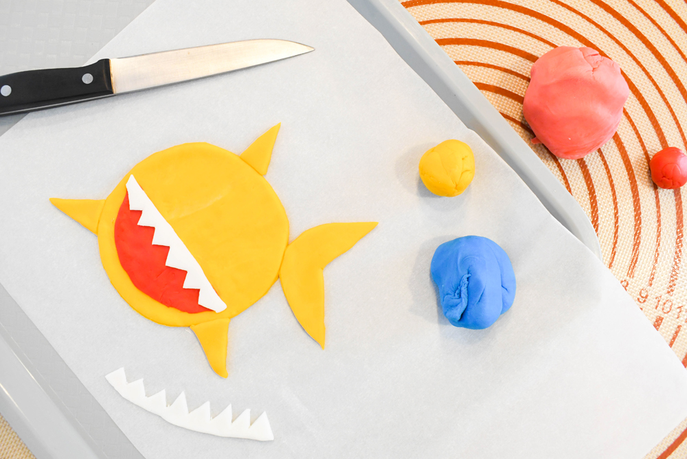 baby shark birthday cake fondant decorations