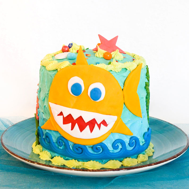 Excellent How To Make A Baby Shark Birthday Cake Create Play Travel Personalised Birthday Cards Veneteletsinfo