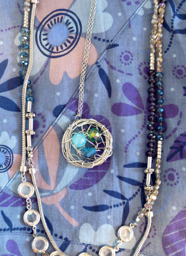 Gorgeous DIY Bird's Nest Necklace