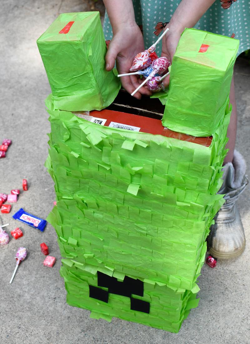 Kids Birthday Party Idea Minecraft Creeper Pinata