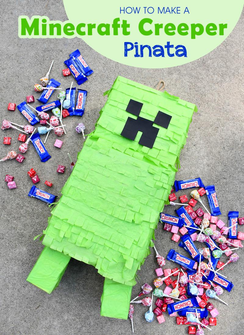 Easy and Creative DIY Minecraft Creeper Pinata