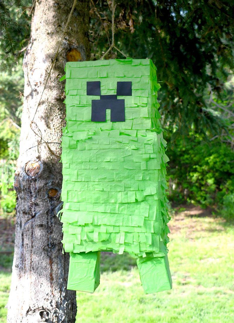 How To Make A Minecraft Creeper Pinata