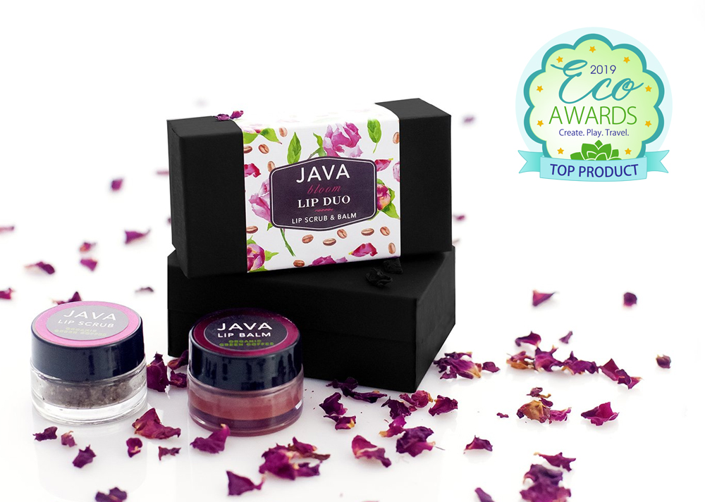 JAVA Skin Care Bloom Lip Duo Winter Eco Awards
