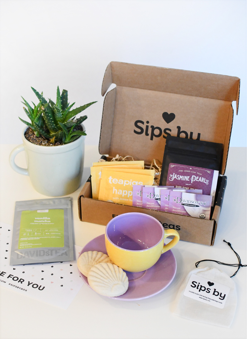 Sips by curated monthly tea box