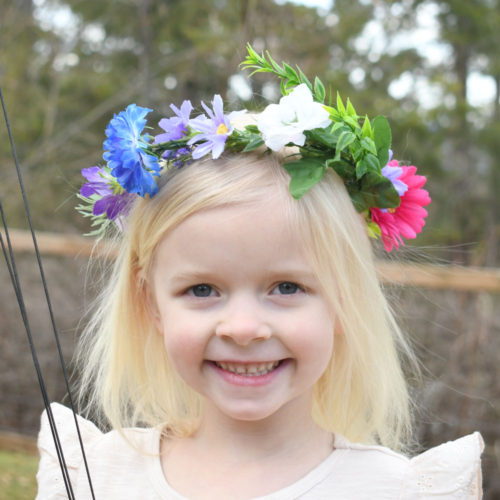 How to Make a Flower Crown Hair Accessory