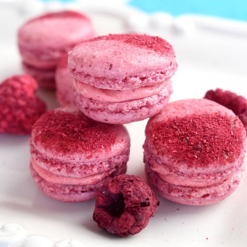 How to Make Freeze Dried Raspberry Macarons