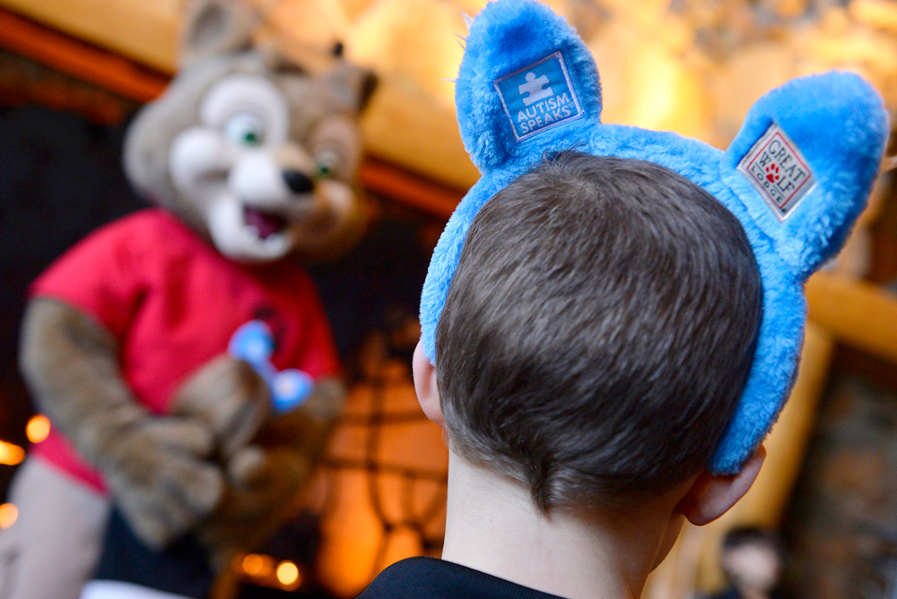 Great Wolf Lodge blue wolf ears Autism Speaks