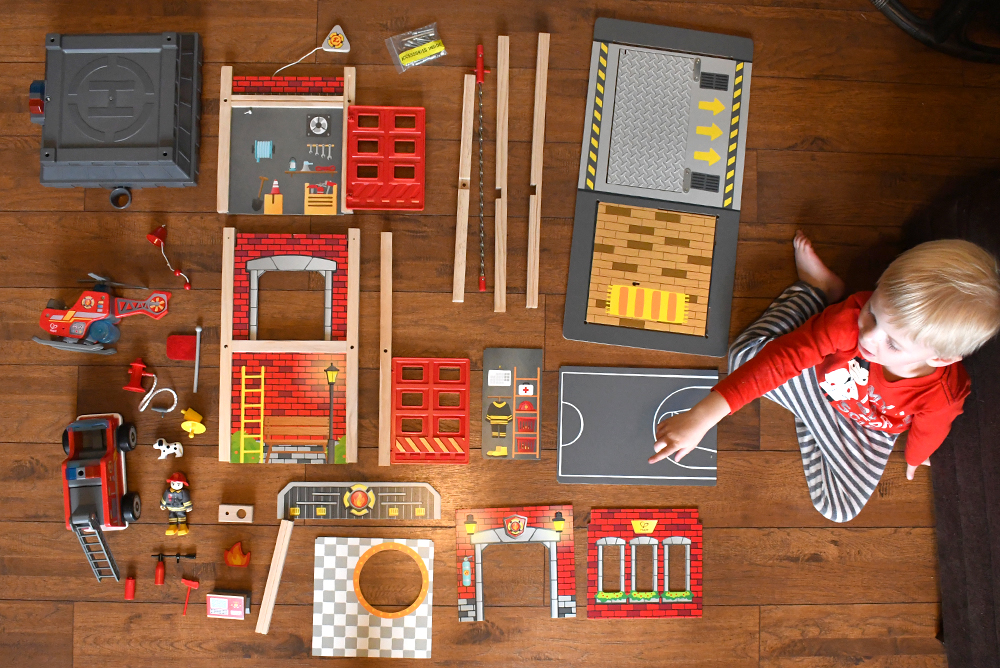 Hape Toys Fire Station Playset Review