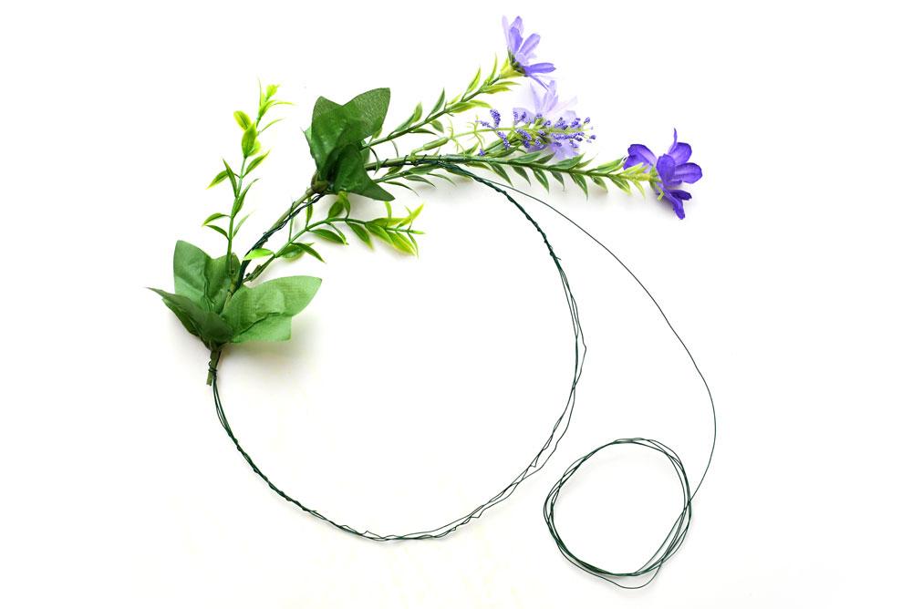 Beautiful DIY flower crown for weddings, birthdays and parties