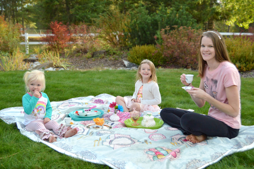 Teach kids polite table manners with a tea party