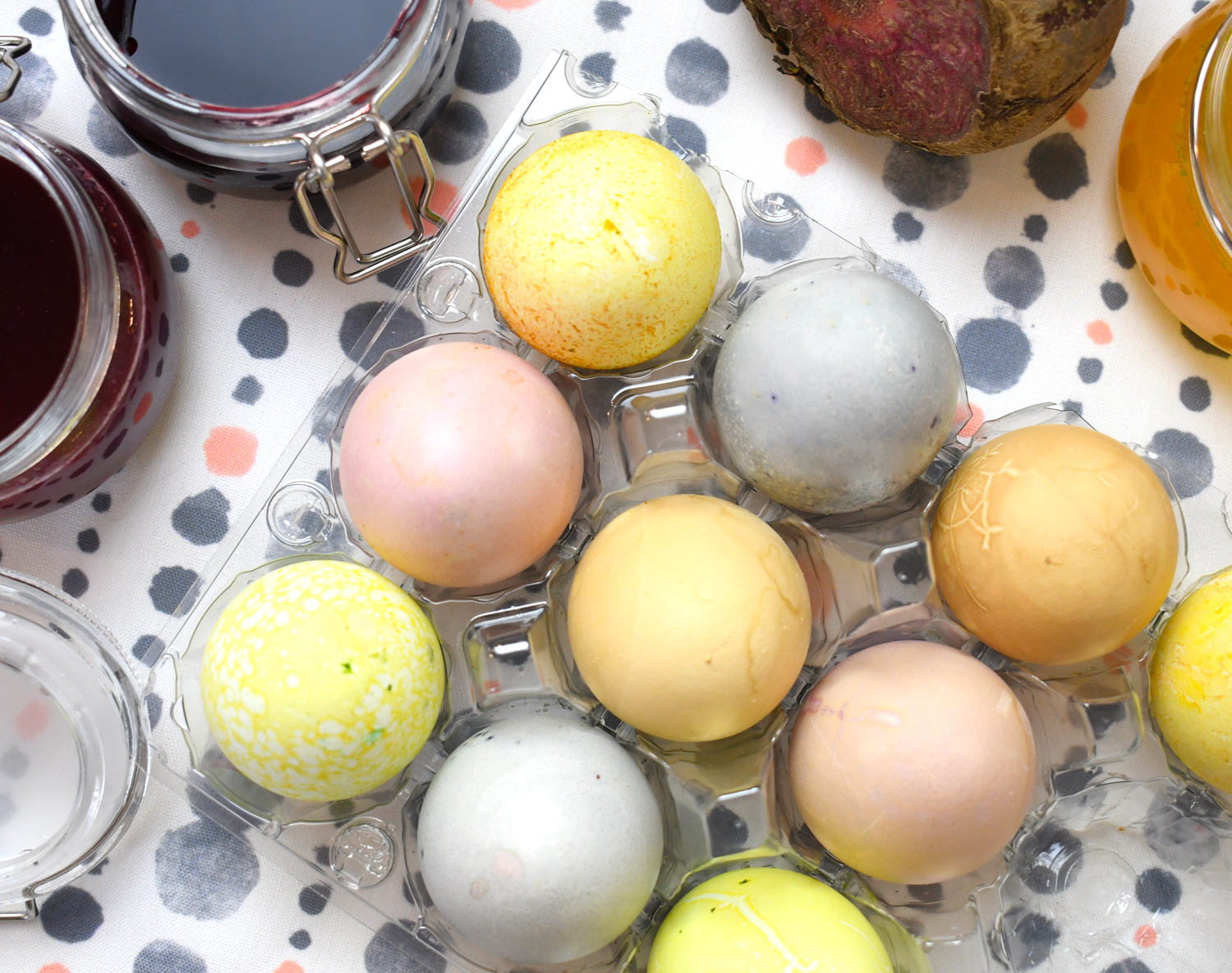 Color Hard Boiled Eggs with Natural Food Dye