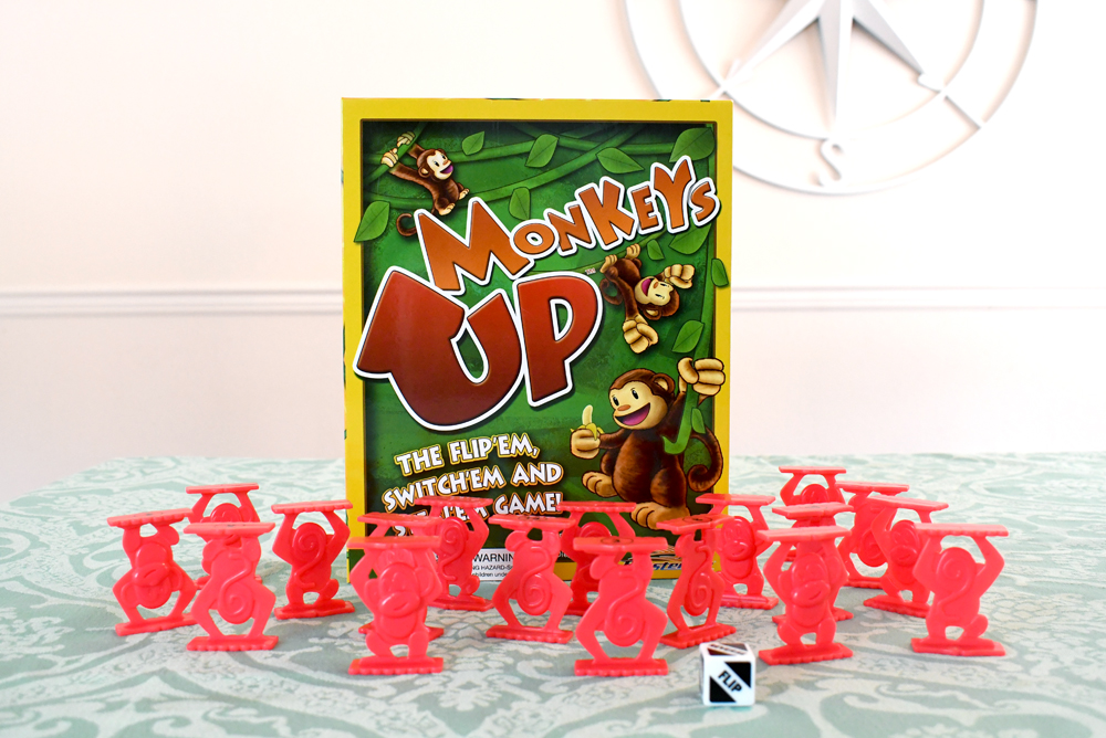 Monkeys Up flipping and switching game Roosterfin kids gift ideas