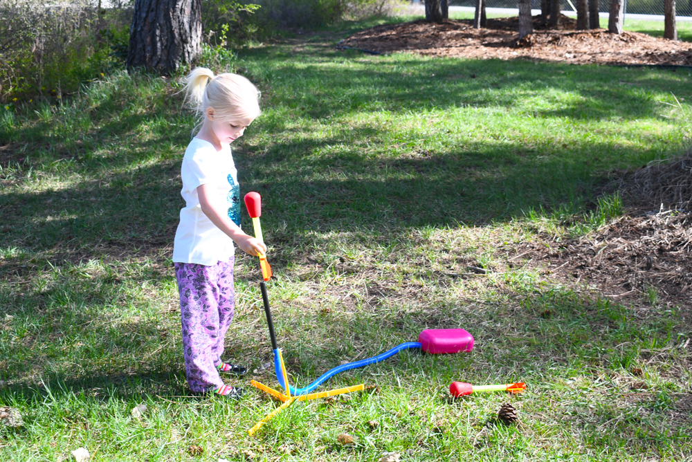 Stomp Rocket Kids Yard Activity