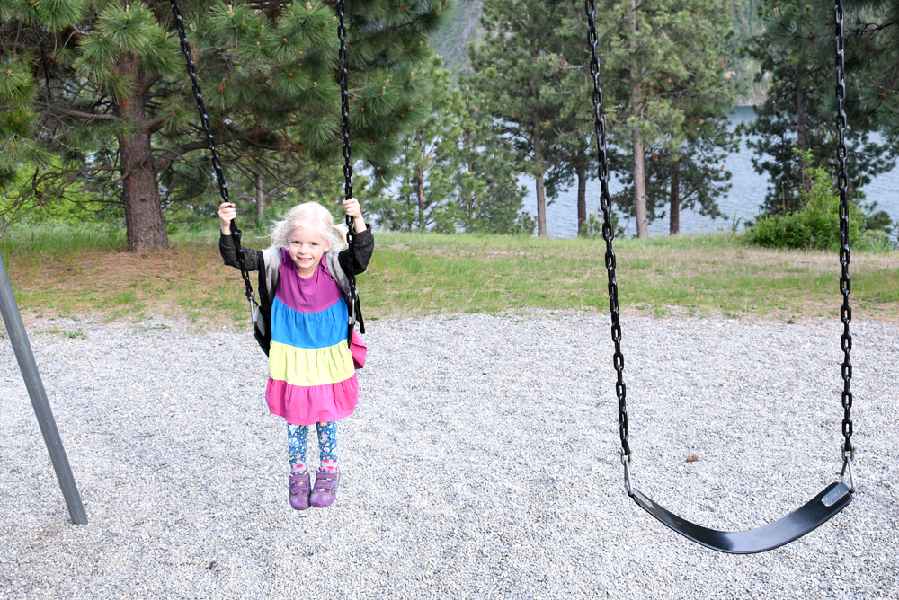 Farragut State Park playground and swing set Coeur d'Alene Idaho