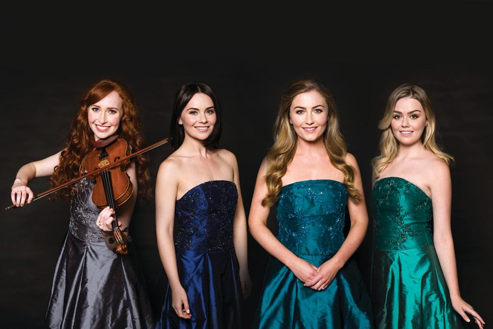 CELTIC WOMAN vocalistsMegan Walsh, Mairéad Carlin, Éabha McMahon and violinist Tara McNeill