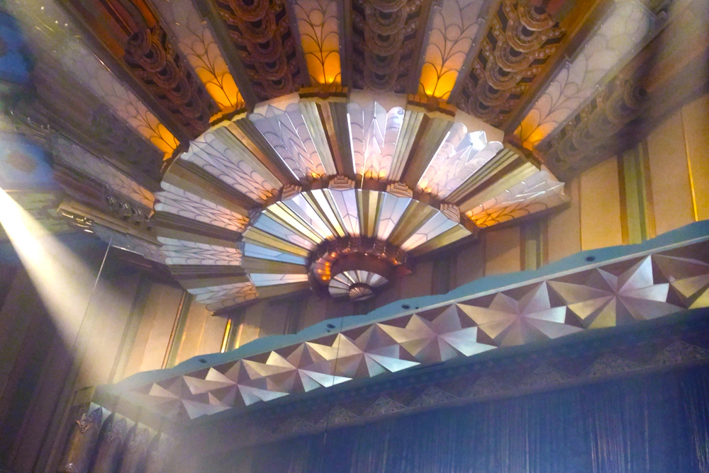 Martin Woldson Theater at The Fox ceiling - Coeur d'Alene blogger Create Play Travel