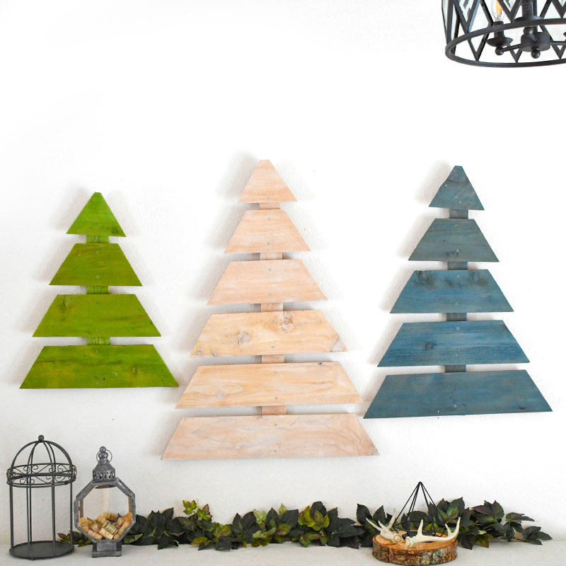 Cute and Easy DIY Wooden Trees Made From Fence Boards