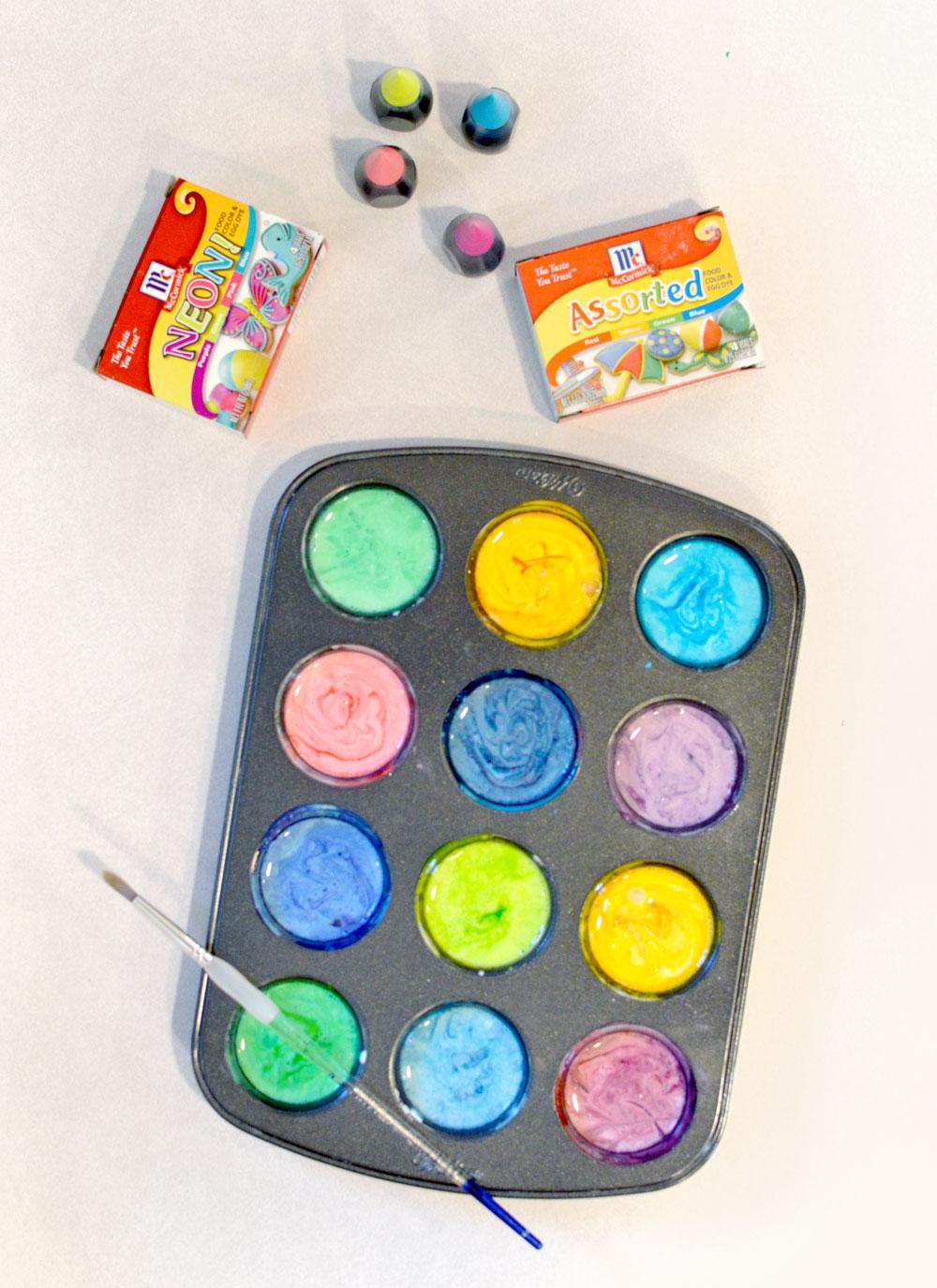 Easy DIY homemade finger paint for kids