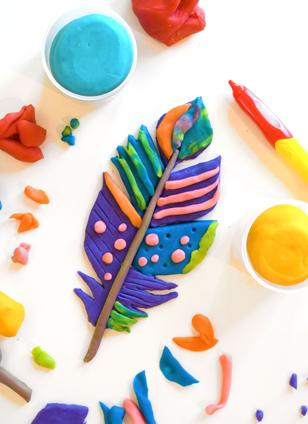 The Best Homemade Playdough Recipe Bright Colors!