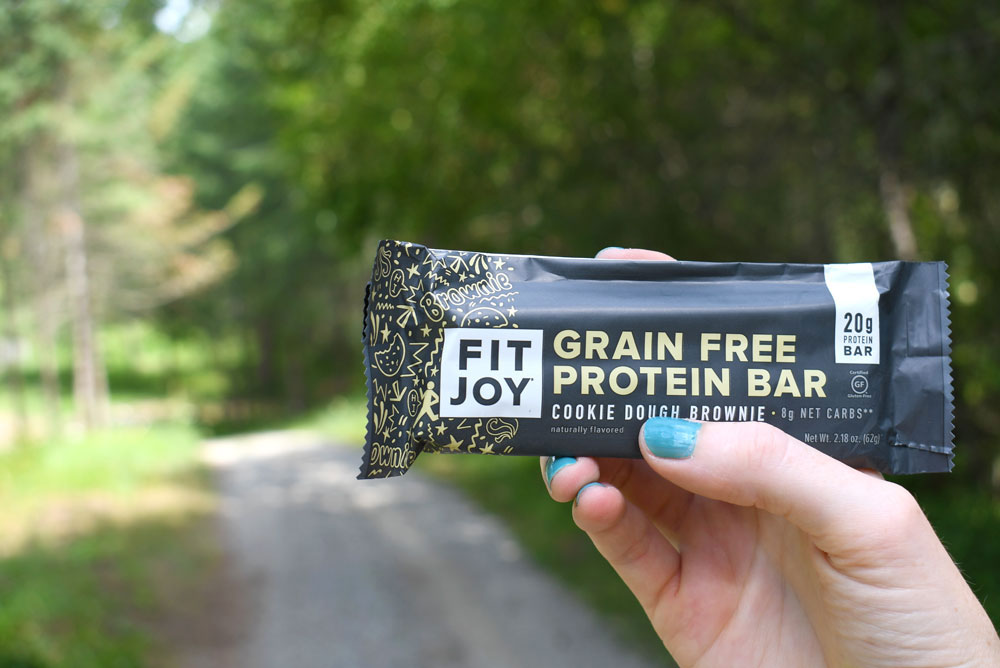 FitJoy review grain free protein bars cookie dough brownie